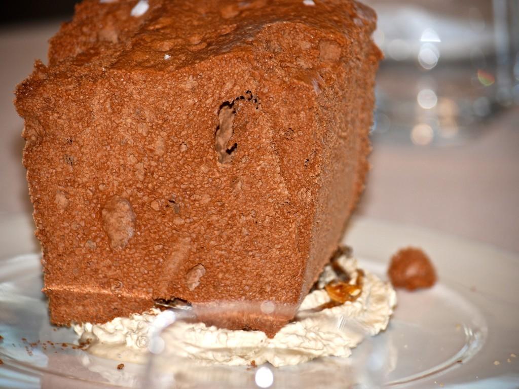 Súpper Mousse de Chocolate, Crema helada de Caramelo, café y Avellanas